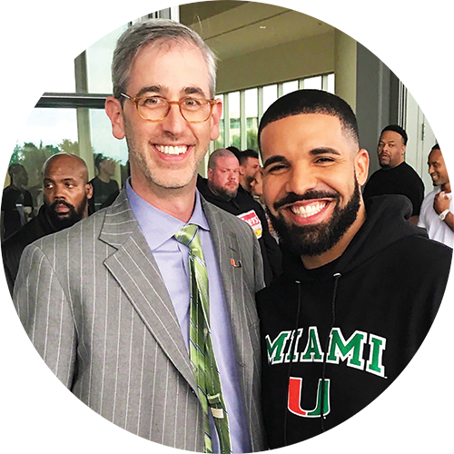 Hip-hop superstar Drake visits the University